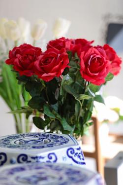 rosas artificiais decoração