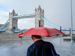 Rainy Saturday at Tower Bridge, London...