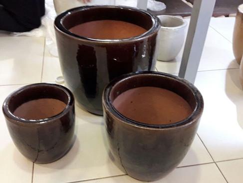VASO VIETNAMITA MARROM CAFÉ PILÃO TAMANHOS P, M e G