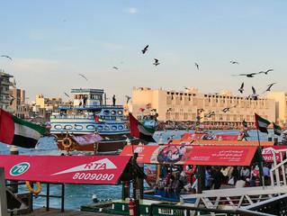 Old Dubai: a glimpse of Al Fahidi district (Al Seef, Al Bastakiya) and Dubai Creek
