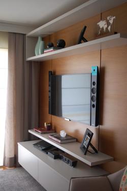 Painel madeira TV