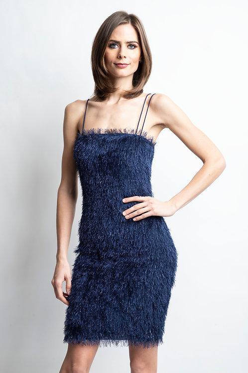 V - Fringe Slip Dress
