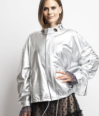 Ree - Silver Metallic Jacket