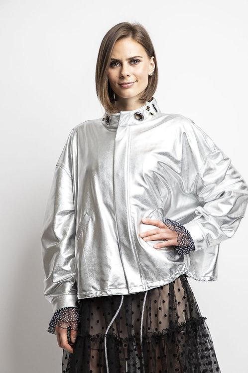 Ree - Silver Metallic Jacket