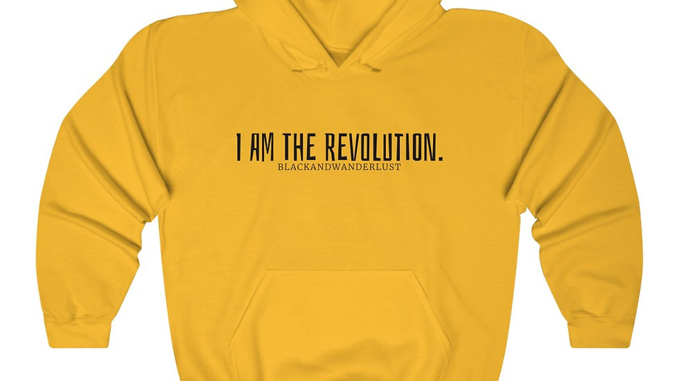"BlackandWanderlust ""Revolutionary Gear: I AM"" Unisex Heavy Blend Sweatshirt"