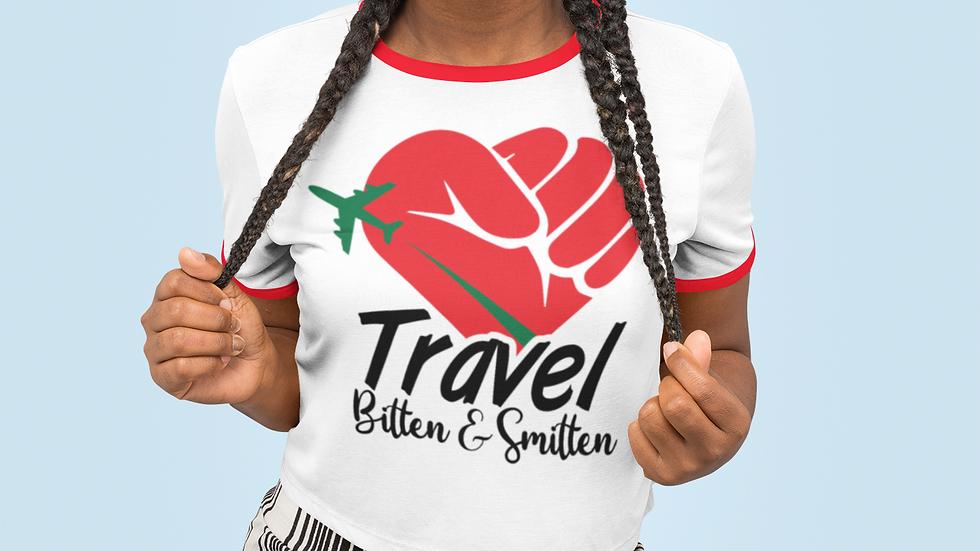 B&W's Travel Bitten and Smitten Unisex Ringer Tee