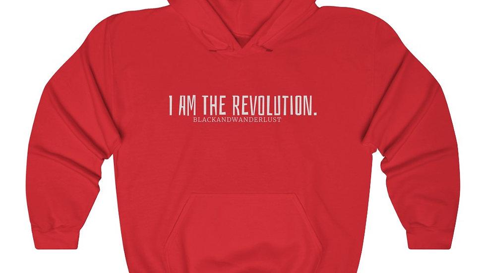 "Black and Wanderlust ""Revolutionary Gear: I AM"" Unisex Heavy Blend Sweatshirt"