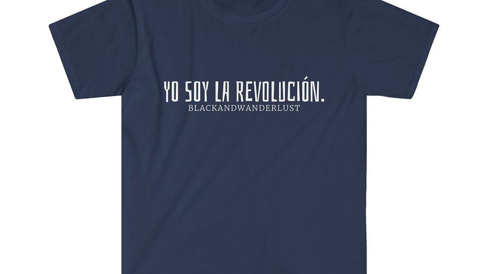 "BlackandWanderlust ""Revolutionary Gear: YSLR"" Unisex Softstyle T-Shirt"