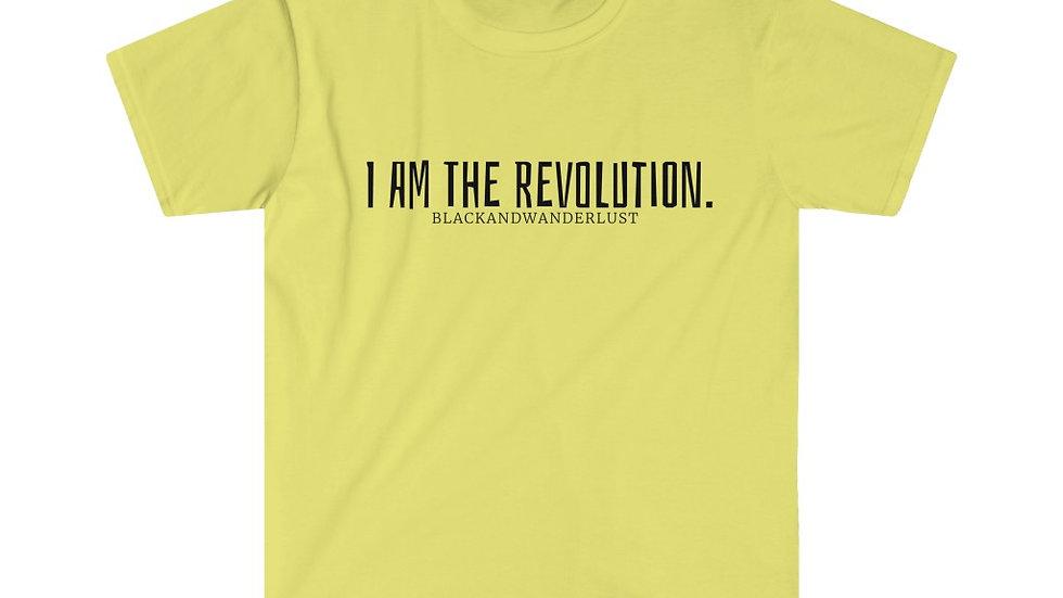 """BlackandWanderlust """"Revolutionary Gear: I AM"""" Unisex Softstyle T-Shirt"""
