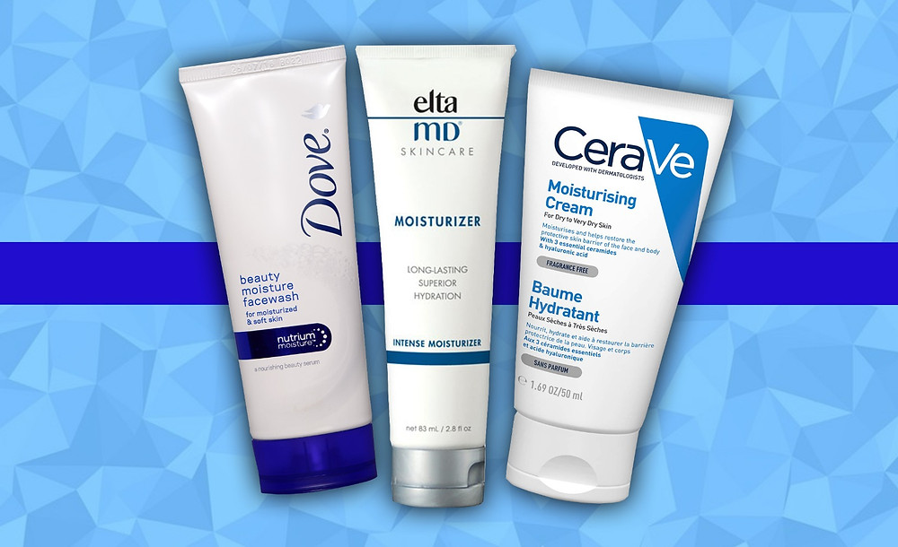 Dove, Elta MD Skincare and Cerave