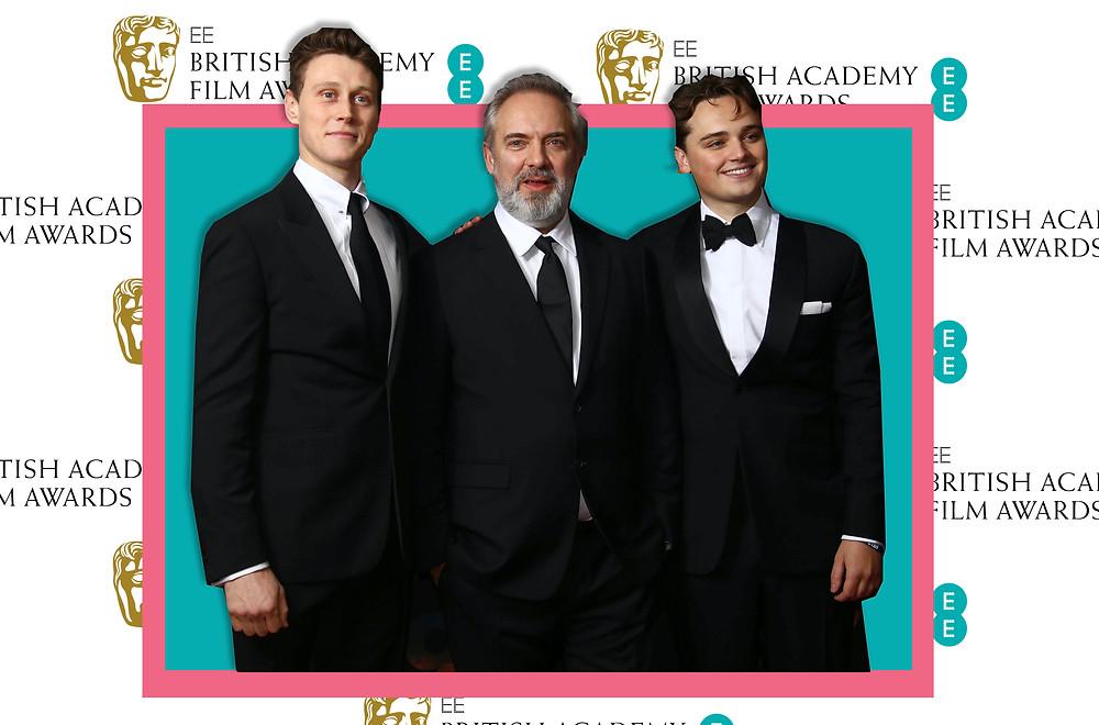 Sam Mendes, Dean-Charles Chapman and George MacKay