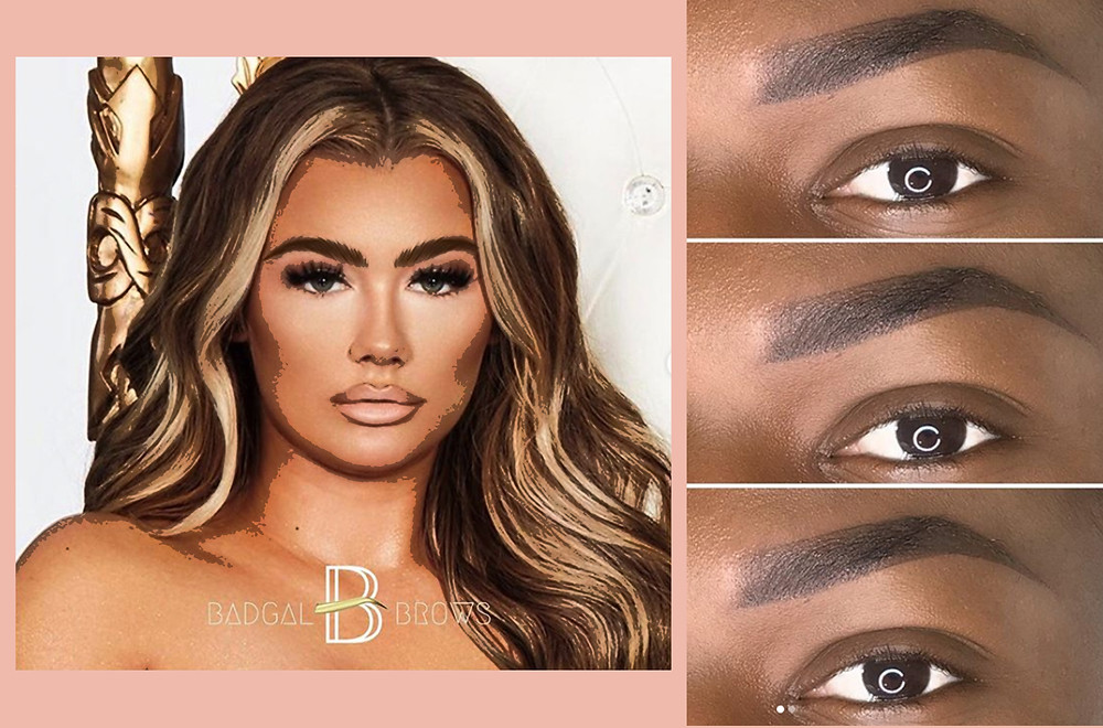Images taken from the @badgal.brows Instagram account