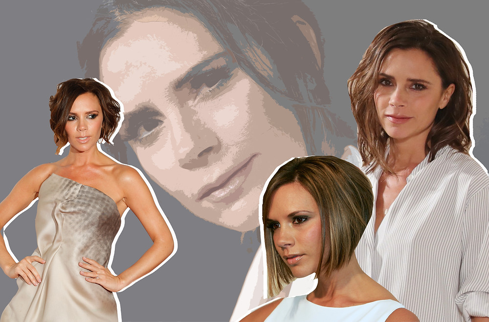 Collage of Victoria Beckham
