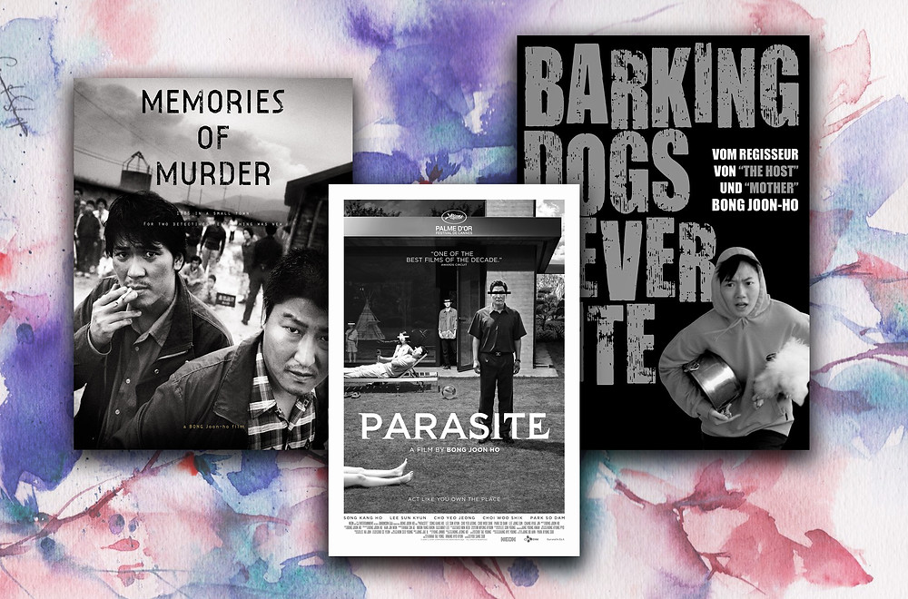 'Memories Of Murder', 'Barking Dogs Never Bite' and 'Parasite' - all directed by Bong Joon-ho
