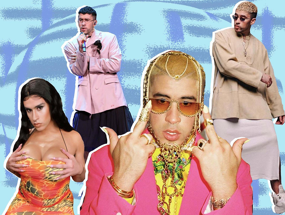 Collage of Bad Bunny