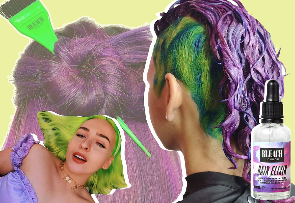 From Bleach London's Instagram, and the Bleach London Hair Elixir
