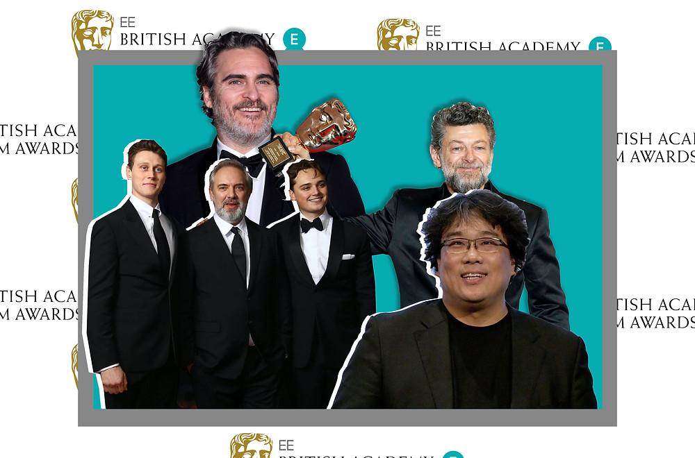 Joaquin Phoenix, Andy Serkis, Sam Mendes, Dean-Charles Chapman, George MacKay and Bong Joon-ho