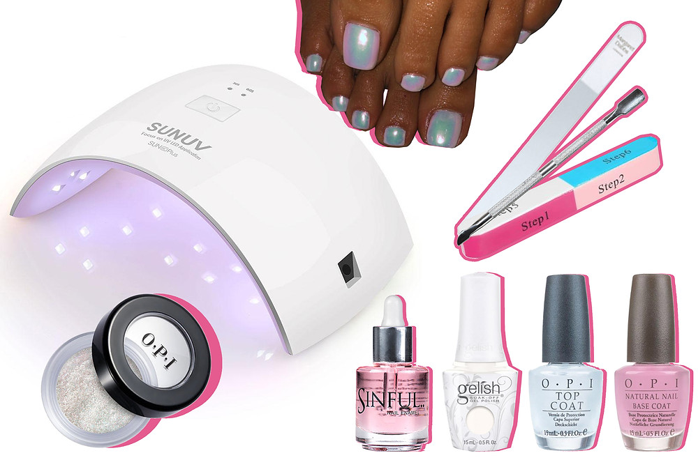 Common Bunning YV LED Nail Lamp, Sinful Cuticle Oil, OPI, Gelish Soak-Off, Margaret Dabbs, Amazon and Mylee