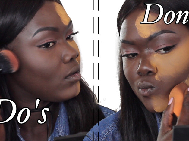 DO'S and DONT'S Highlight & Contour For Dark Skin