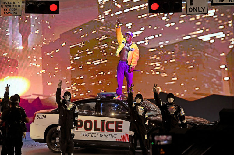 DaBaby and Jabbawockeez perform onstage during the 2020 MTV VMA'S