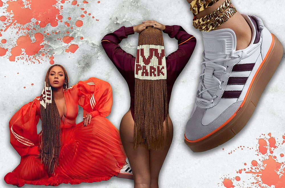Beyoncé modelling her adidas x IVY PARK collection
