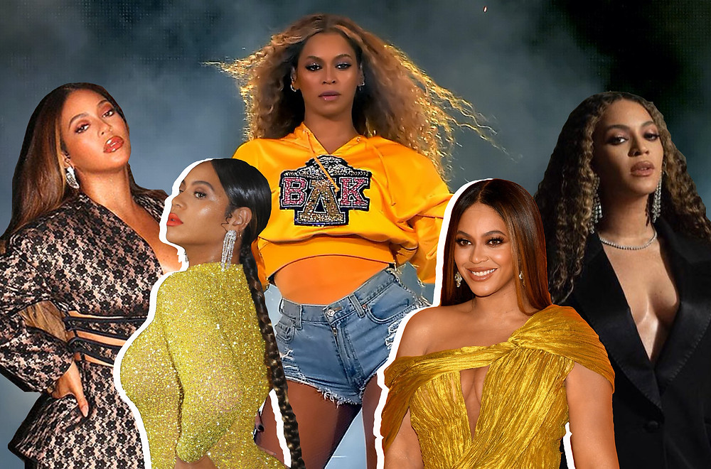 Collage of Beyoncé