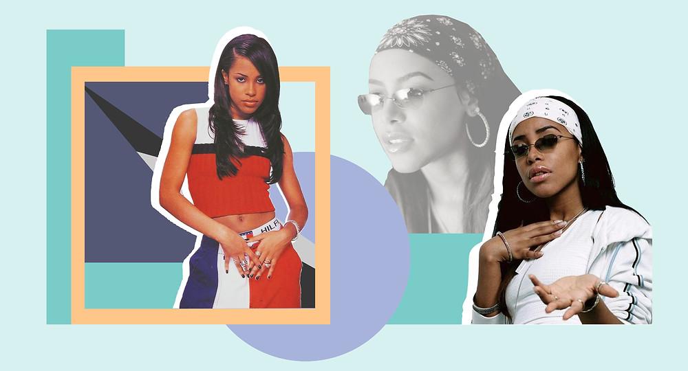 Collage of Aaliyah Dana Haughton