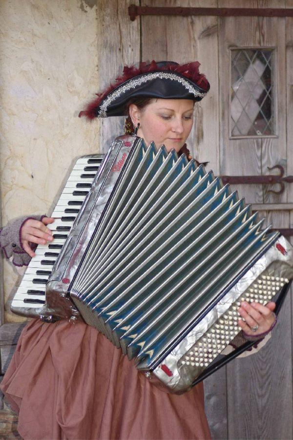 Hannah on Accordion