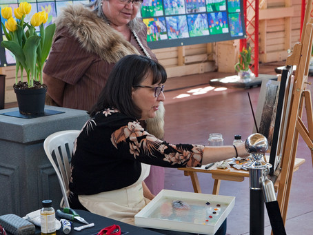 Painting Demo at Canadian Tulip Festival