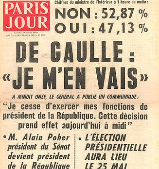 Démission de Gaulle 27 avril 1969