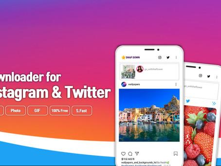 인스타그램 사진저장 앱 스냅다운 _ Introduce Photos Videos Downloader for Instagram and Twitter : SnapDown