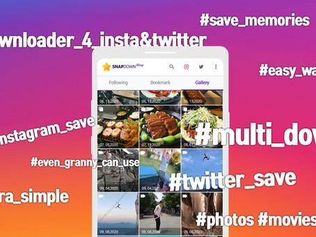 SnapDown Story : Multi-downloader for Instagram & Twitter