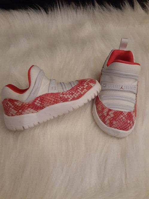 Pink and White Snake skin Jordans