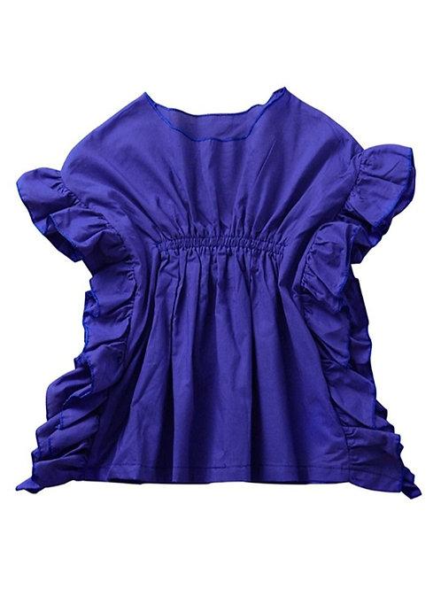 Blue Ruffled Shirt