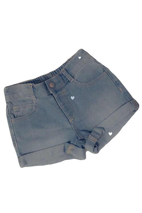 Light Blue Wash Jean Shorts