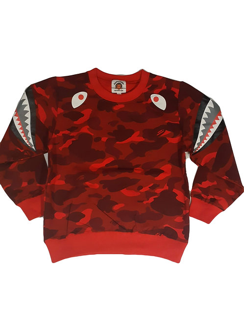 Boys Red Fatigue Sweatshirt