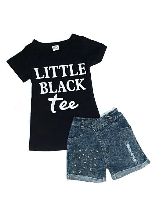 Basic Black Tee Set