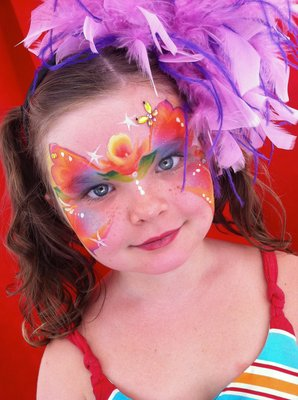 Hair Bling w/ Face Painting