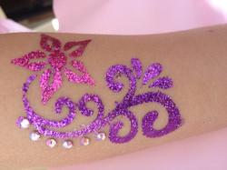 Glitter tattoos/gems