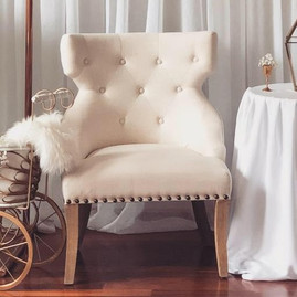 Furniture - Ivory Tufted Chair