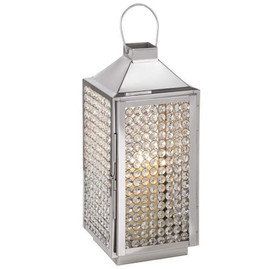 Chrome Crystal Lantern - $10