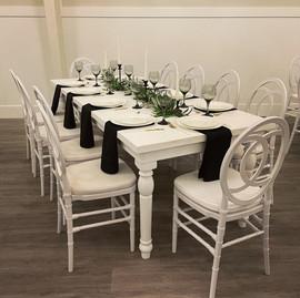 """88""""x36"""" White Farm Table - $75"""
