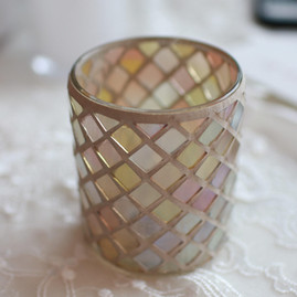 Mosaic Glass Votive Holder- $1.50