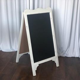 Prop - White Chalkboard Easel