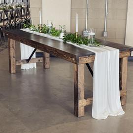 """88""""x36"""" Fruitwood Farm Table - $65"""