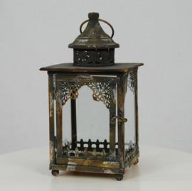 Metal Patina Lantern - $8