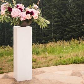 Prop - White Square Column