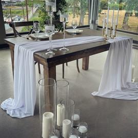 """60""""x36"""" Fruitwood Farm Table - $55"""