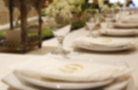 Tableware set with napkin