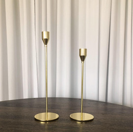 Gold Candle Holder (Lg) - $3